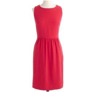 J crew camille dress 0 neon pink crepe